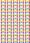 Canada Gay Pride Flag Stickers - 65 per sheet